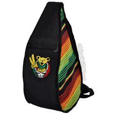 Grateful Dead - Steal Your Peace Bear Rasta Sling Shoulder Bag on Sale for $39.99 at HippieShop.com