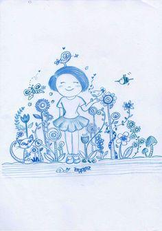Girls on garden