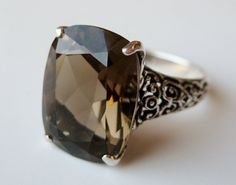 absolute perfection, this is my favorite.. :D                                    Vintage Ring Sterling Silver Filigree Smoky Topaz by socaljewelbox $58.00