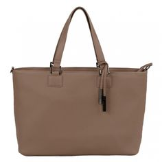 Zip Top Shopper Bag - Taupe  from the Florene collection