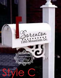 How to Decorate Your Own Mailbox Vinyl Projects, Home Projects, Personalized Mailbox, Mailbox Decals, Dinning Room Tables, Silhouette Cameo Projects, Take Me Home, Small House Plans, Decorating Tips