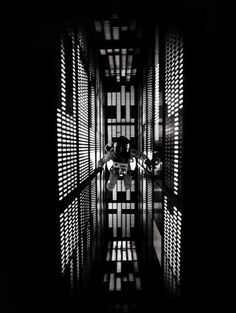 "2001: A Space Odyssey (1968, dir. Stanley Kubrick) ""I think that 2001, like music, succeeds in short-circuiting the rigid surface cultural blocks that shackle our consciousness to narrowly limited areas of experience and is able to cut directly through to areas of emotional comprehension. In two hours and twenty minutes of film there are only forty minutes of dialogue."