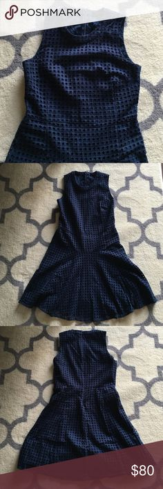 Madewell Eyelet Sunshade Dress in Indigo This is a reposh. In great condition! It is a bit too short for me length-wise. Brilliantly structured in light-as-air eyelet lace, this simple but special dress is one you can reach for again and again. Genius with ankle boots or sneakers. Madewell Dresses Mini