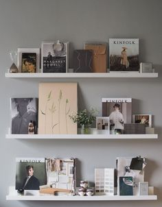 How to update your home this summer without buying anything new. Styling IKEA picture ledges against a grey wall