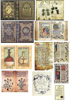 Dollar Store Dollhouse: Dollhouse Printies - Miniature Old Medieval Books & Pages