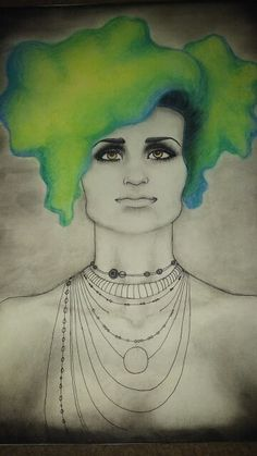 Oracle- pastel and ink Mixed Media, Pastel, Ink, Drawings, Painting, Sketches, Paintings, Sketch, India Ink