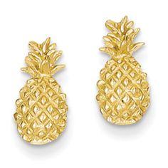 Gold Pineapple Earrings