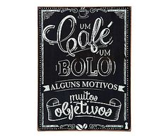 Box Decorativo Café e Bolo - 30X40cm