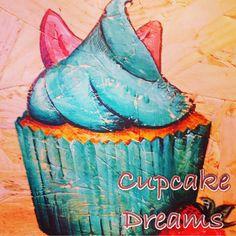 Strawberry Cupcake Art Apple Art, Cupcake Art, Strawberry Cupcakes, Toffee, Cards, Sticky Toffee, Candy, Map, Playing Cards