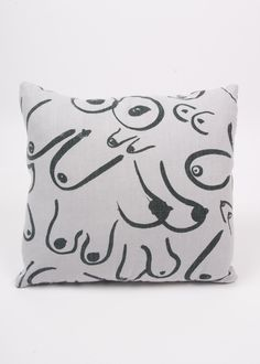 GRAVEL & GOLD Boobs Throw Pillow on Grey A dreamy throw pillow made from heavy linen in our classic 'Boobs' print. Details: invisible zipper for synthetic-fill inner pillow. x 16 Price includes insert. Grey Throw Pillows, Best Pillow, Diy Interior, Dream Decor, Home Accents, Decoration, Art Images, Decorative Pillows, Home Accessories