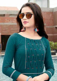 Salwar Designs, Simple Kurti Designs, Kurta Designs Women, Kurti Designs Party Wear, Neck Designs For Suits, Neckline Designs, Sleeves Designs For Dresses, Dress Neck Designs, Kurti Sleeves Design