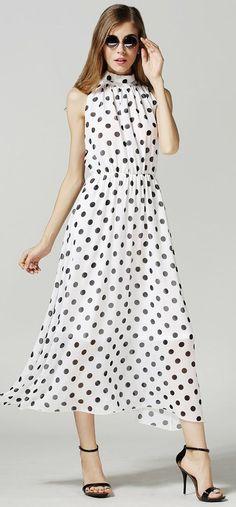 Halter dot dress