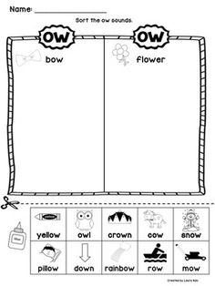 Vowel TEAM AI and AY: Phonics with WORD SORTS, NURSERY