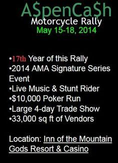AspenCash Motorcycle Rally - 2014 Aspen Cash Ruidoso Rally