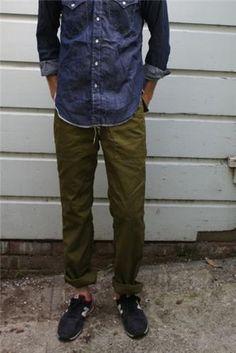 Men, Trousers, Sneaker, Engineered Garments Fatigue Pant - Denim - Mens / Arrow & Arrow, New Balance