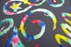 Do some salt paintings - 100 rainy day activities for kids - Netmums Painting Crafts For Kids, Painting Activities, Kids Crafts, Bonfire Night Crafts, Bonfire Ideas, 3 Reyes, Rainy Day Activities For Kids, Kids Fun, Summer Activities