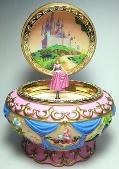 Disneys Sleeping Beauty Aurora Music Box Music boxes Blue