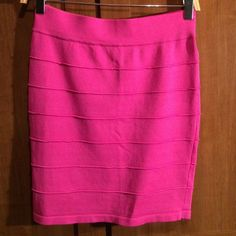 🌟FINAL PRICE 🌟 Pink body con skirt Longer than usual. Hits at the knee. Can be worn high wasted Skirts
