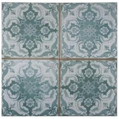 Merola Tile, Kings Seagate 17-3/4 in. x 17-3/4 in. Ceramic Floor and Wall Tile (11.3 sq. ft. / case), FPESGFS3 at The Home Depot - Mobile