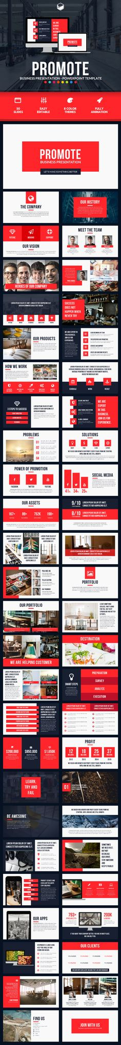 Promote - PowerPoint Template. Download here: http://graphicriver.net/item/promote-powerpoint-template/14725343?ref=ksioks