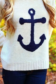 Adorable anchor sign sweater for fall fashion