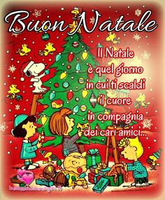 Buon Natale immagini di auguri con Snoopy Snoopy Christmas, Christmas Wishes, Christmas Time, Merry Christmas, Italian Memes, Totoro, Holidays And Events, Cute, Peanuts