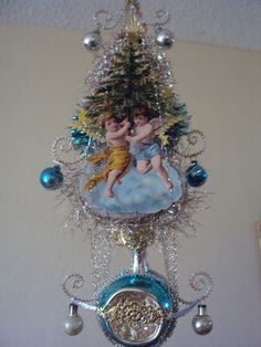Vintage Victorian Tree Topper with Angels