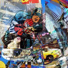 """Résultat de recherche d'images pour """"collage cedric bouteiller"""" Times Square, Collage, Collages, Collage Art, Colleges"""