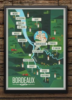 Majestic Wine Maps by Neil Stevens: Bordeaux.