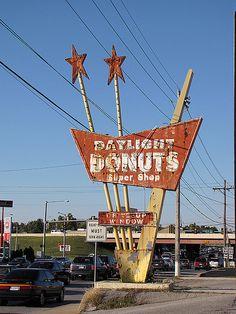 Daylight Donuts - Tulsa, Oklahoma by Vintage Roadside, via Flickr