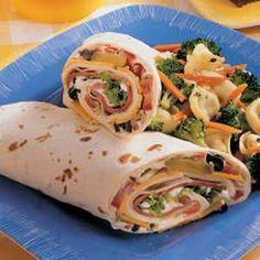 Deli Vegetable Roll-Ups Recipe