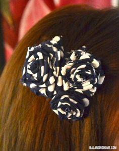 DIY Tutorial: DIY Clip Hair for Girls / DIY Fabric Flower Hair Clip - Bead&Cord