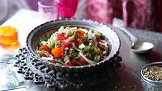 Šalát so salámou | Kuchyňa Lidla Lidl, Gluten Free Recipes, Ethnic Recipes, Glutenfree, Food, Indian, Tomatoes, Food Portions, Food Food