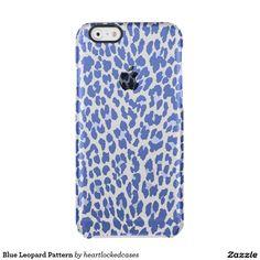 Blue Leopard Pattern Clear iPhone 6/6S Case