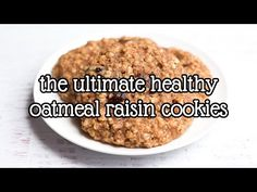 The Ultimate Healthy Soft & Chewy Oatmeal Raisin Cookies {Recipe Video!} | Amy's Healthy Baking