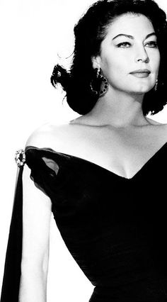 Ava Gardner in Balenciaga. Amazing! I want to look like that!!: