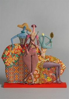 wonderfully whimsical Aristocrats ~ textile dolls by Tatiana Ovchinnikova