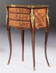 date unspecified A LOUIS XV ORMOLU-MOUNTED AMARANTH, SATINE AND MARQUETRY TABLE A ECRIRE  Price realised  GBP 5,019
