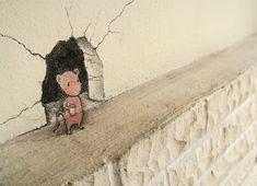 Far-Flung And Underfoot: Traveling Street Art 2015 - David Zinn