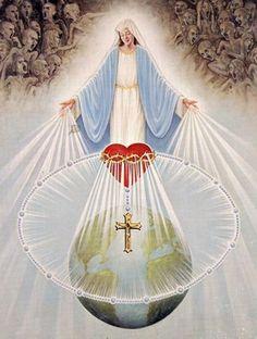 """Triunfo do Imaculado Coração de Maria: """"Por fim, meu Imaculado Coração triunfará"""" (Nossa Senhora, em Fátima, aos três pastorinhos, 1917)."""