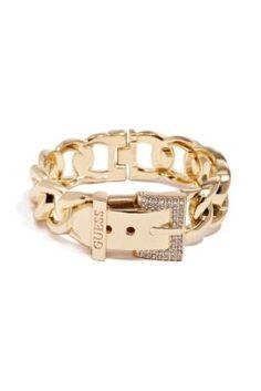 www.guess.com  Gold-Tone Chain Hinge Buckle Cuff