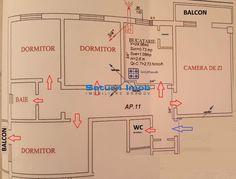 Vanzare apartament 4 camere decomandat etaj intermediar zona Grivitei