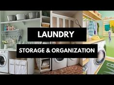 Laundry Room Storage & Organizing Ideas s