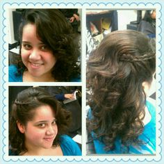 A cute style with a braid, great for a prom,dance,wedding.