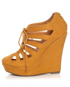 yellow cutout wedges WANT
