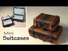 Simple Miniature Suitcase Tutorial - Dolls/Dollhouse - YouTube