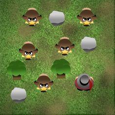 Game graphics for Dodo Hunter (Global Game Jam 2011)