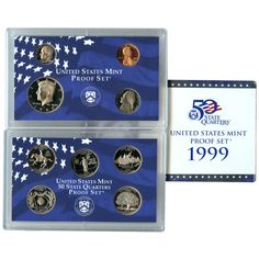 1999-S 9-Coin Proof Set including 5 State Quarters