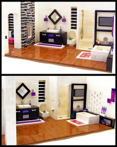 I would love to make a Lego dream home, this would be an awesome bathroom