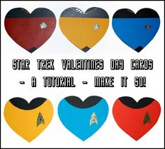 Star Trek DIY valentines day cards. #TNG and #TOS Valentine Day Cards, Valentines Diy, Valentine's Day Diy, Star Trek, Stars, Holiday, How To Make, Join, Valentines